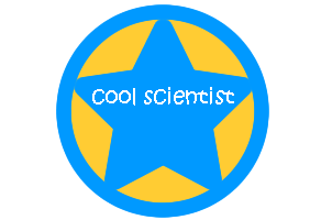 cool scientist badge