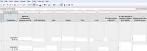 screenshot of spreadsheet in google