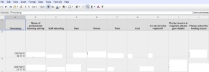 screenshot of spreadsheet in google
