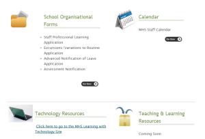 intranet screenshot