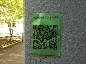 QR code for students to practise scanning