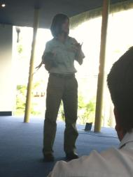 Nikki from the zoo presenting on sustainability