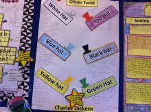 Classroom wall displays at Ferguson Intermediate School