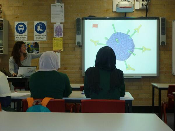 Dr Melina explaining how the immune system works with Year 12 Biology students.