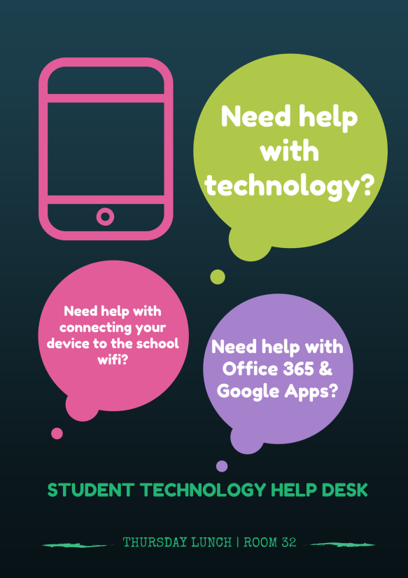 student technology help desk poster