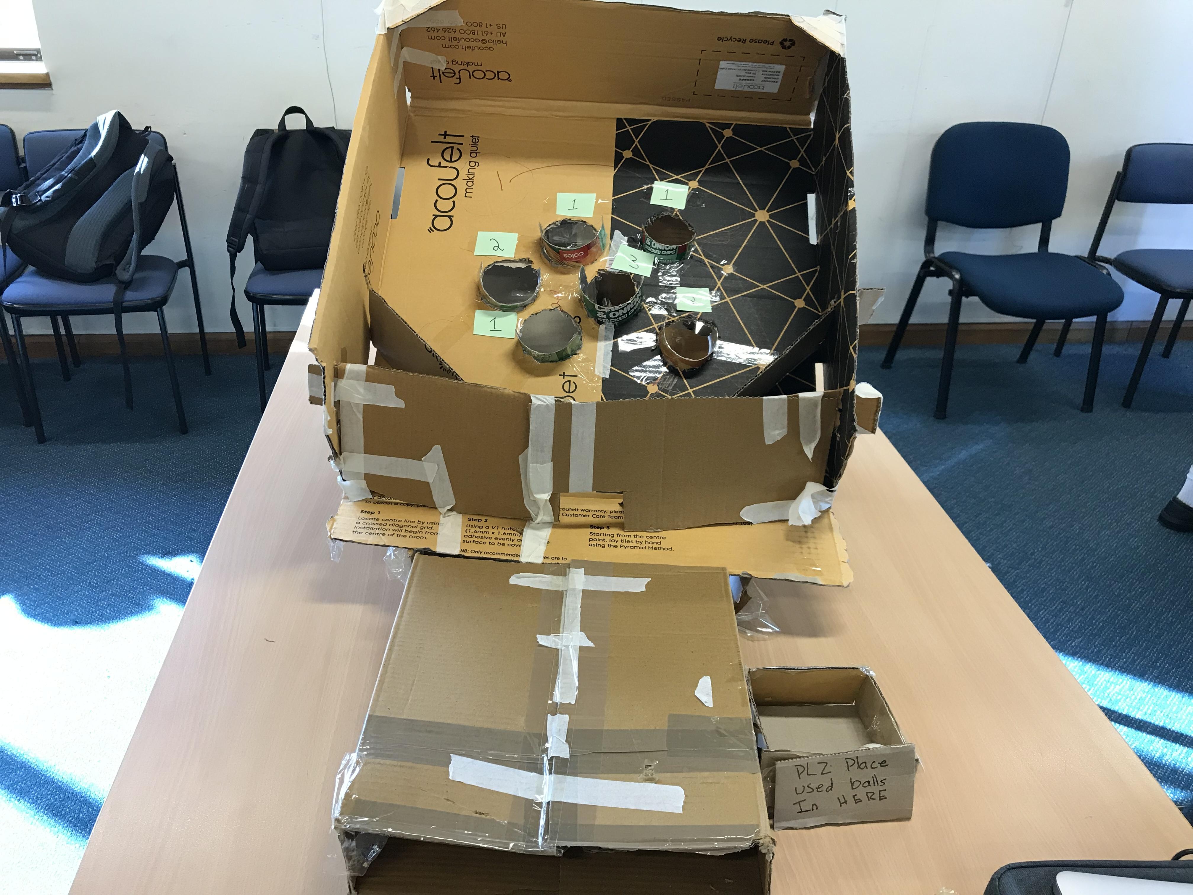 cardboard skeeball